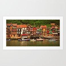 Little Fishing Village Art Print