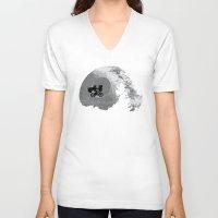 et V-neck T-shirts featuring ET Wars by Don Calamari