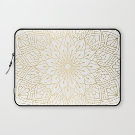 The Golden Mandala Illustration Pattern Laptop Sleeve