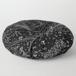 Nocturnal Animals of the Forest Floor Pillow