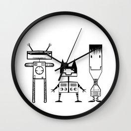 Tree Robots Wall Clock