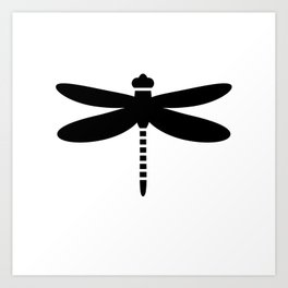 Bugs: abstract Dragonfly Art Print