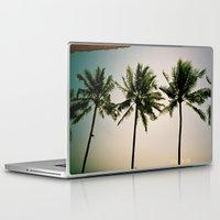indonesia Laptop & iPad Skins featuring La Luciola palms, Bali, Indonesia  by Kim Barton
