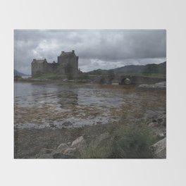 Eilean Donan Castle in Scotland Throw Blanket