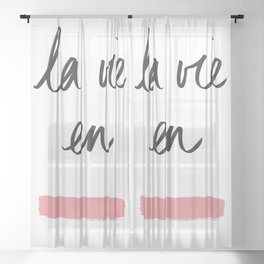 La Vie en Rose x Telma W. Sheer Curtain