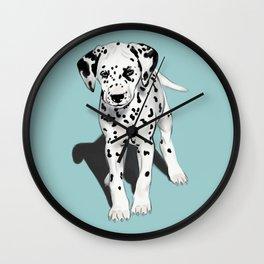 Dalmatian Puppy Wall Clock