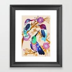 Hummingbird Floral Song Framed Art Print
