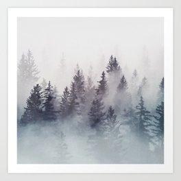 Winter Wonderland - Stormy weather Art Print