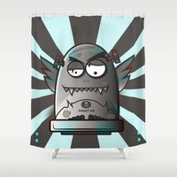 fault Shower Curtains featuring Fault 45 03 (its not his fault) by Face Leakage