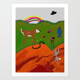 Magical happy land Art Print