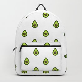 Avocado Hearts (white background) Backpack