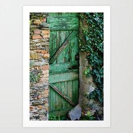 Italian Green Door Art Print
