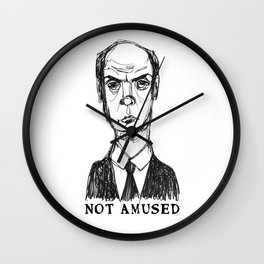 Not Amused (With Text) Wall Clock