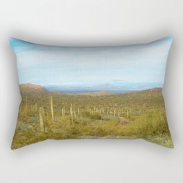 Arizona Landscape with Saguaro cactus Rectangular Pillow