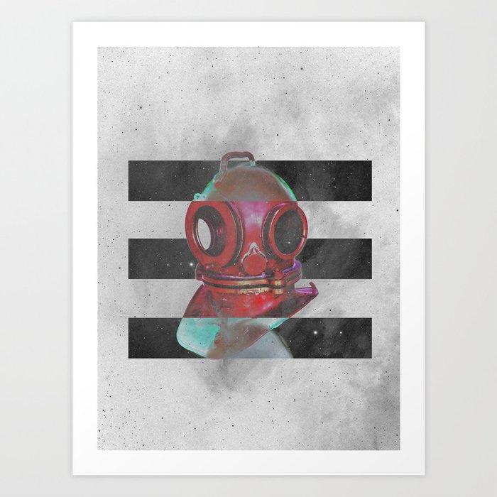 Old school helmet Art Print