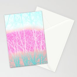 Winter Branches in Ice Cream Colors Stationery Cards