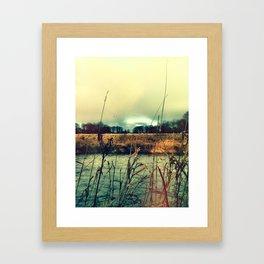 Across the water. Framed Art Print