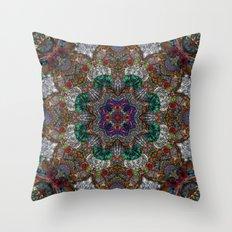 Hallucination Mandala 4 Throw Pillow