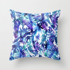 Vibe of the JUNGLE  {B-Blue} Throw Pillow
