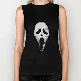 silent scream - charlie chaplin Biker Tank