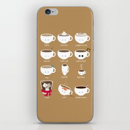 Know Your Coffees iPhone Skin