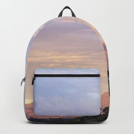 Sunset over Saddleback Mountain Backpack