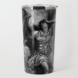 Gustave Dore - Paradise Lost Satan Profile Travel Mug