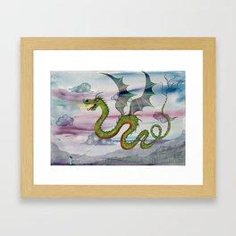 Dragon Kite Framed Art Print