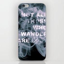 Smoke Quote iPhone Skin