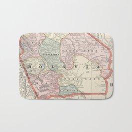 Vintage Map of Bolivia (1901) Bath Mat