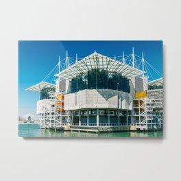 The Lisbon Oceanarium, Aquarium In Portugal, Parque das Nacoes, Wall Art Print, Modern Architecture Metal Print