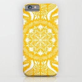 Mellow Yellow Botanical Folk Tile  iPhone Case