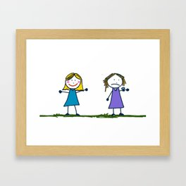 No Time for My Friend Framed Art Print