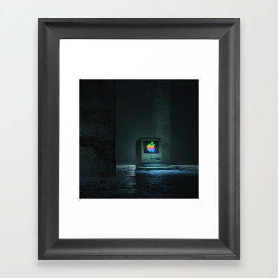 BLUE SCREEN (everyday 10.10.17) Framed Art Print