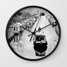 London canal during winter Wall Clock