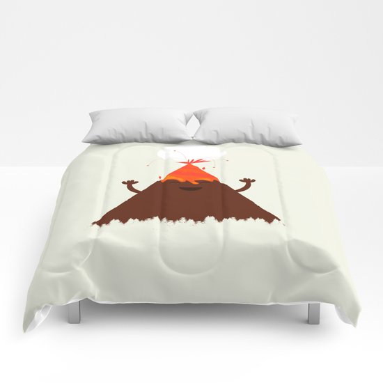 Volcanoes Love to Party Comforters