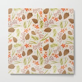 Quiet Walk In The Forest - A Soft And Lovely Pattern Metal Print