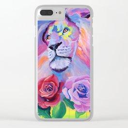 Proud Lion Clear iPhone Case