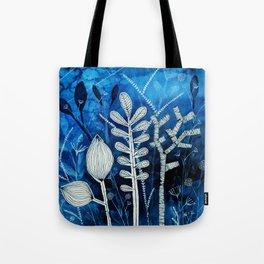 Secret Indigo Garden Tote Bag