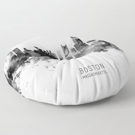 Boston Massachusetts Skyline Floor Pillow