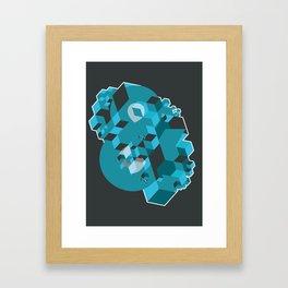 Ampersand Lost in Cubes Framed Art Print