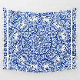 Blue Radiance Wall Tapestry