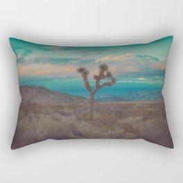 Joshua Tree Aqua Sunset Rectangular Pillow
