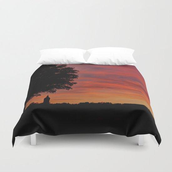 Gorgeous sunset in LOVE  Duvet Cover
