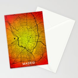 Madrid map Stationery Cards