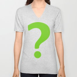 Enigma - green question mark Unisex V-Neck