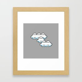 Super Mario Clouds Framed Art Print