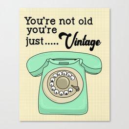 Vintage Retro Telephone Canvas Print