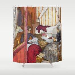 12,000pixel-500dpi - Edouard Vuillard - Women Sewing - Digital Remastered Edition Shower Curtain