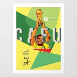 #2 Cafu // World Cup • Football Stars  Art Print